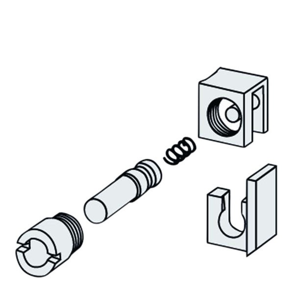 Keylock Standard komplett Kunststoff / Titan OK re - UK li
