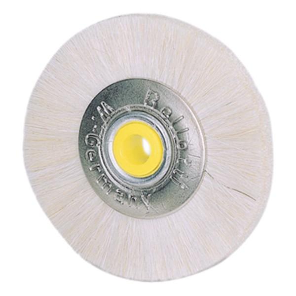 Schmalpolierbürsten, Ziegenhaar, Metallkern D=49 mm, 12 Stück