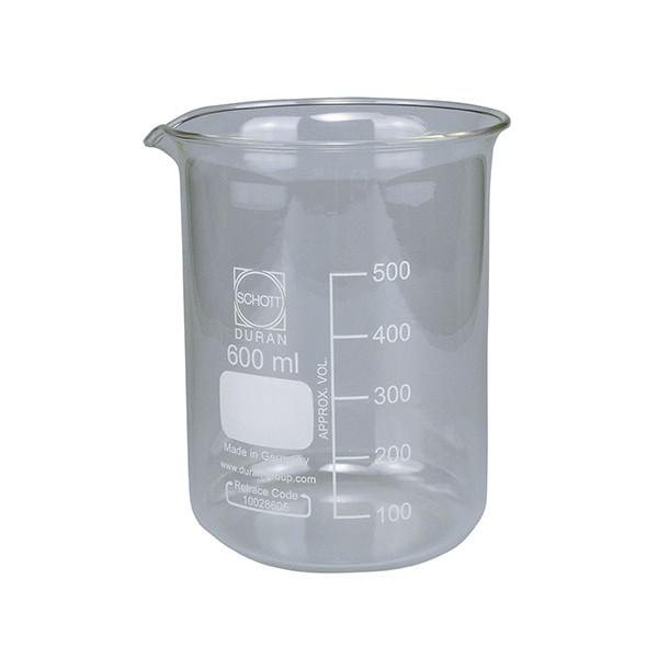 Becherglas 600 ml mit Ausguss (Schott) für EL-Form S