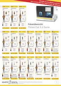 Fräserübersicht Tizian Cut 5.2 Serie