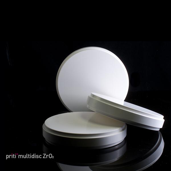 priti®multidisc ZrO2 multicolor Translucent, 98 mm
