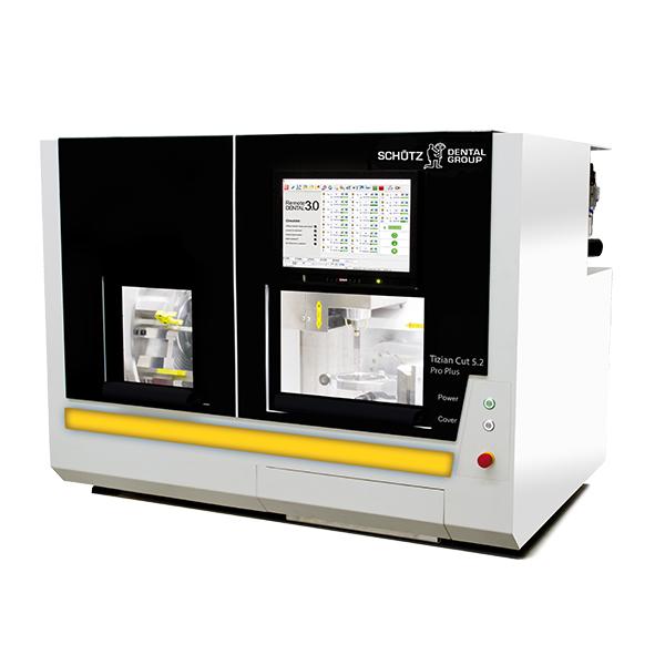 Tizian Cut 5.2 Pro Plus Fräsmaschine inkl. 12-fach Blankwechsler, 8 Blankhaltern, Nassbearbeitung & Nullpunktspannsystem