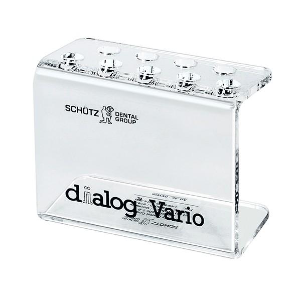 Plexiglasständer für Spritzen dialog Vario, bedruckt
